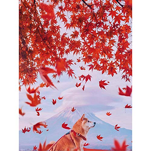 DIY Diamond Painting Kits Maple Leaf and Dog Full Round Drill Handicrafts