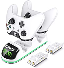 Charger for Xbox One/S/X, Fast Dual Charging Station Updated LED Strap, Remote Charger Dock - 2 Rechargeable Battery Packs...