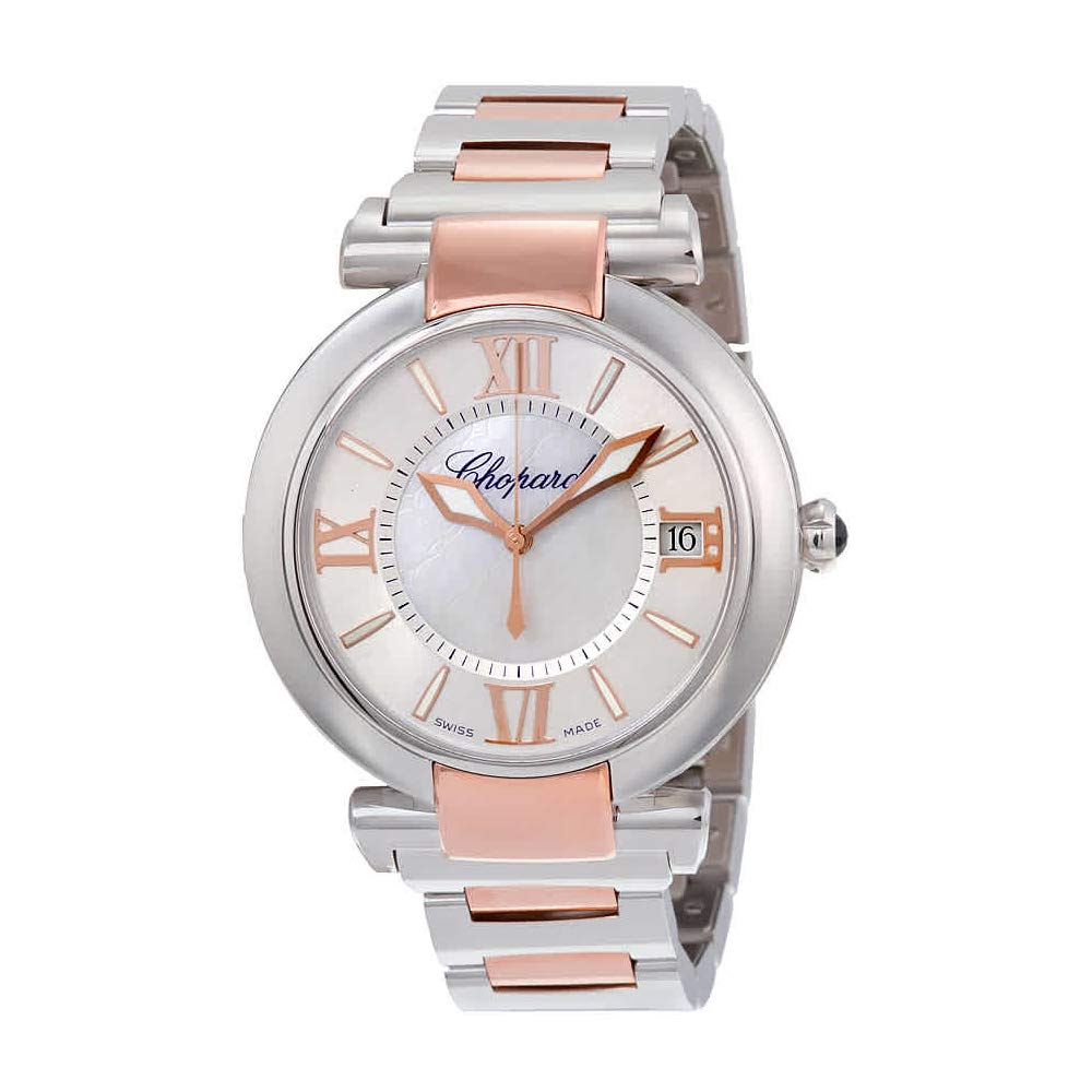 Chopard Imperiale Large Mother of Pearl Dial Two Tone Automatic Swiss Made Watch 388531-6007