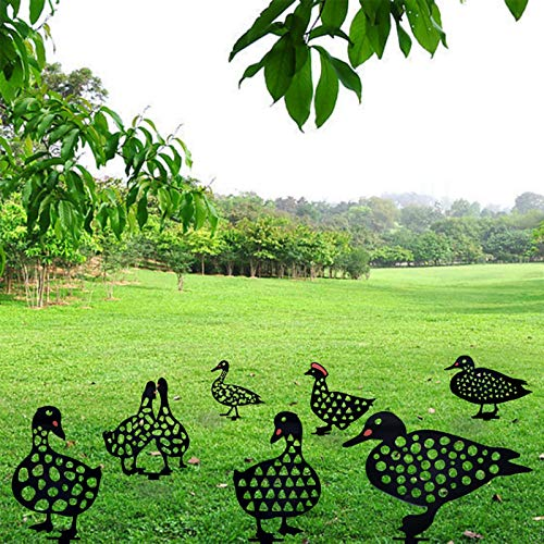 7Pcs Duck Yard Art Garden Acrylic Statue Decor Backyard Lawn Ornaments Duck Yard Decorative Gifts Easter,7 pcs