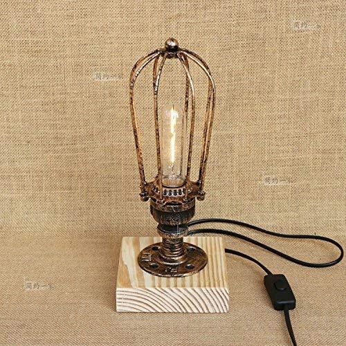 YLCJ Retro textiel industriële para la creatividad y grave; Lámpara de mesa industrial