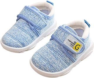 DEBAIJIA Chaussures pour Tout-Petits 3-18M Bébé Marche Enfants Garçons Non-Slip Mesh Respirant Léger Baskets à Enfiler TPR...