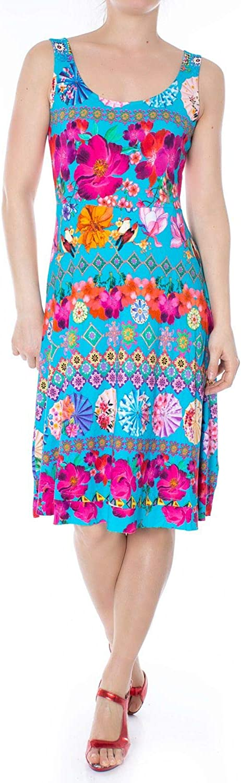 Desigual Women's 19SWVK52LIGHTblueE Light bluee Viscose Dress