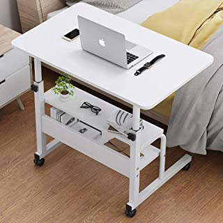 Height Adjustable Side Table,lifting Moving Bedside Table Pc Laptop Desk Simple Lazy Small Computer Table For Home Bedroom...