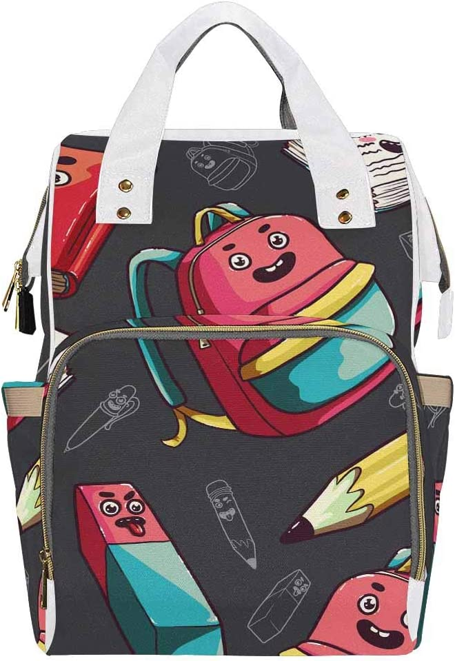 InterestPrint Baby Nappy Changing Bags Multifunction Waterproof Backpack Book, Notebook, Pencil