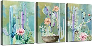 Ardemy Canvas Wall Art Cactus Flowers 12
