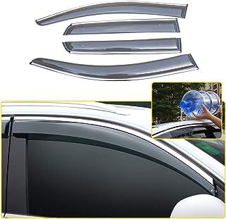 Set di 4 deflettori dAria compatibili con Renault Clio MK4 Hatchback//Station Wagon 5 Porte 2012 2013 2014 2015 2016 2017 2018 2019 Visiera Laterale in Vetro Acrilico PMMA.