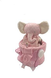 Baby Girl Elephant Nappy Cake Baby Gift Baby Shower