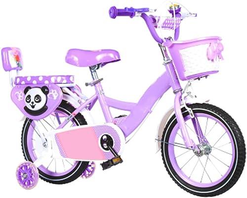 ofreciendo 100% Axdwfd Infantiles Bicicletas Bicicleta para Niños Bicicletas para Niños Acero Acero Acero de Alto carbono12   14 16 18 Pulgadas con Ruedas de Entrenamiento para Niños y niñas Ciclismo, Adecuado para Niños de 2 a  garantizado