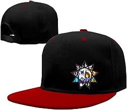 Fav Undertale Star Crest Snapback Hip-Hop Hat Flat Adjustable Baseball Cap