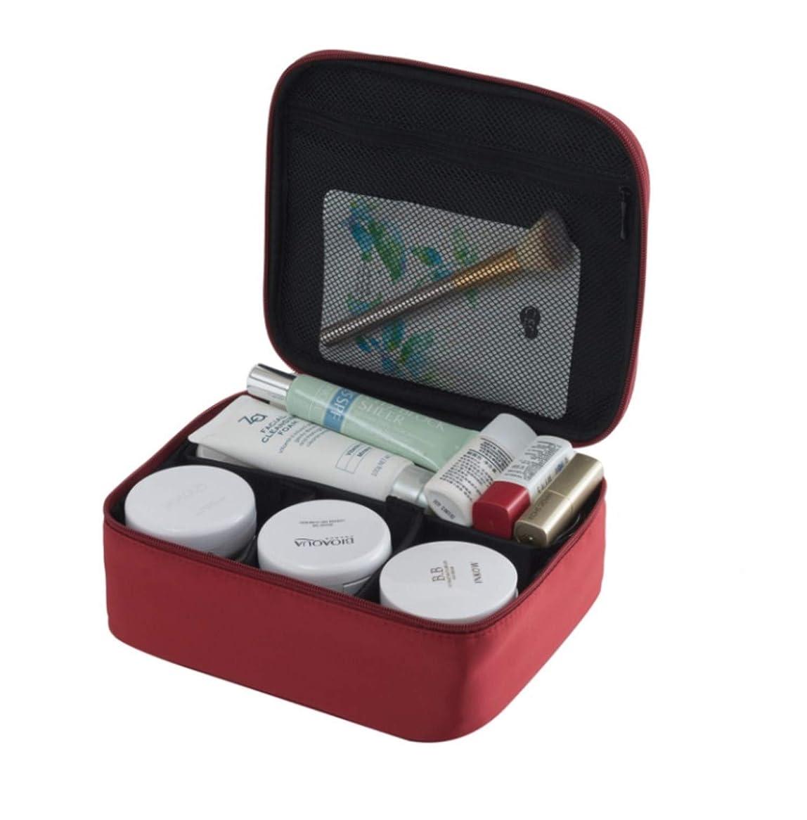 出します改革とげのあるSURCHAR メイクボックス プロ用 メイクケース 高品質 コスメ収納スタンド 大容量 コスメケース 收納抜群 メイクブラシバッグ 旅行用 収納ケース 化粧 (レッド)
