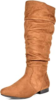 DREAM PAIRS Women's BLVD Knee High Pull On Fall Weather Boots(Wide Calf Available)