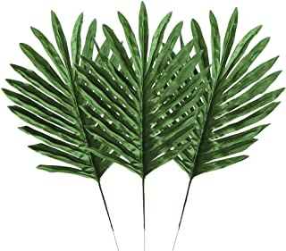 Houkr 24 PCS Artificial Palm Leaves, Fake Lifelike Simulation Silk Tropical Plants, for Home Kitchen Party Flowers Arrangement Wedding Decorations