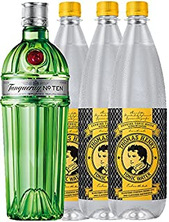 Tanqueray No.10 Ten Gin 0,7 Liter  3 x Thomas Henry Tonic 1,0 Liter
