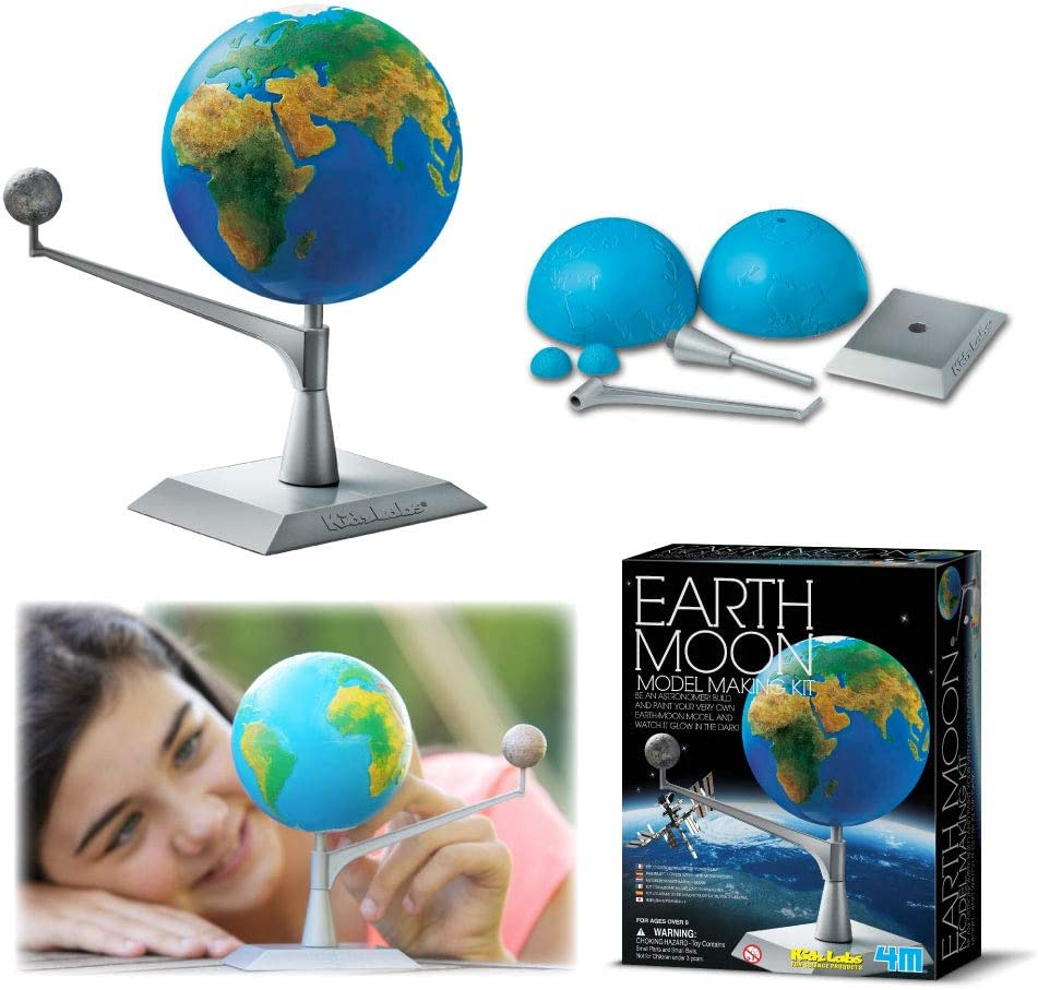 Sun Moon Earth Running Model Science Experiment Children DIY Assembly Toy