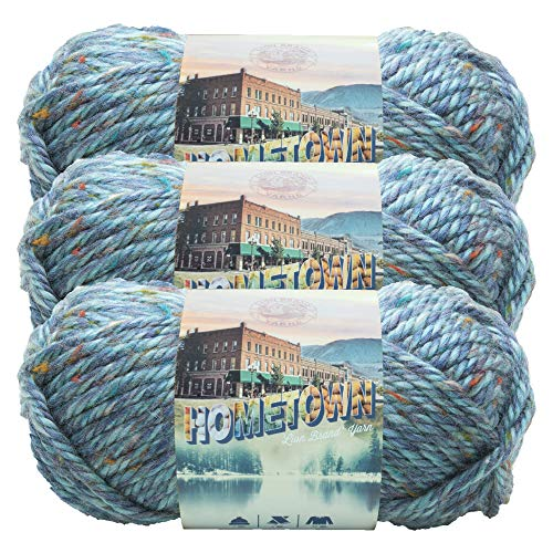 Lion Brand Yarn (3 Pack) 135-308 Hometown Yarn, Key Largo Tweed