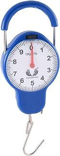 أداة قياس الوزن بمقبض بلاستيكي محمول من uxcell أداة قياس الوزن توازن الربيع 10 كجم أزرق