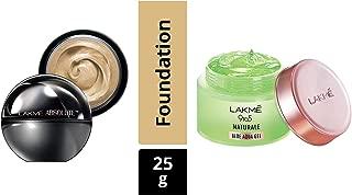 Lakme Absolute Skin Natural Mousse, Ivory Fair 01, 25g & Lakmé 9 to 5 Naturale Aloe Aquagel, 50g