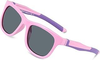 DUCO キッズスポーツサングラス 偏光サングラス 男の子と女の子兼用 柔軟なフレーム 安心 かわいい車型な眼鏡ケース K009