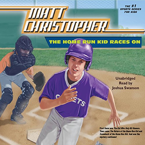 The Home Run Kid Races On audiobook cover art