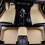 HzvtCtarmsu Alfombrilla Piso del automóvil Hecha de Cuero a Medida Alfombrilla para el Piso Cobertura Total para alfombras Delanteras y traseras para Chrysler 300C Grand Voyager Sebring