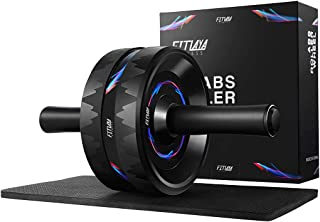 Fitlaya Fitness Ab Roller Wheel- Sturdy Ab Workout Equipment for Core Workout and Abdominal Exercise(a Knee pad Inside)