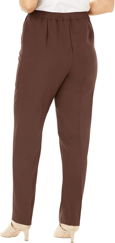 Roamans Women's Plus Size Classic Bend Over Pant Pull On Slacks