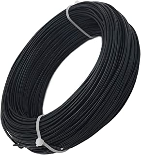 INSPIRELLE 15 Gauge 164 Feet Black Aluminum Craft Wire Bendable Metal Wire for Jewelry Craft Making