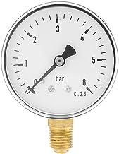 """Mini Manómetro para combustible, aire, aceite y agua,Medidor de presión en miniatuna de alta precisiónde rosca NPT de 1/4""""..."""