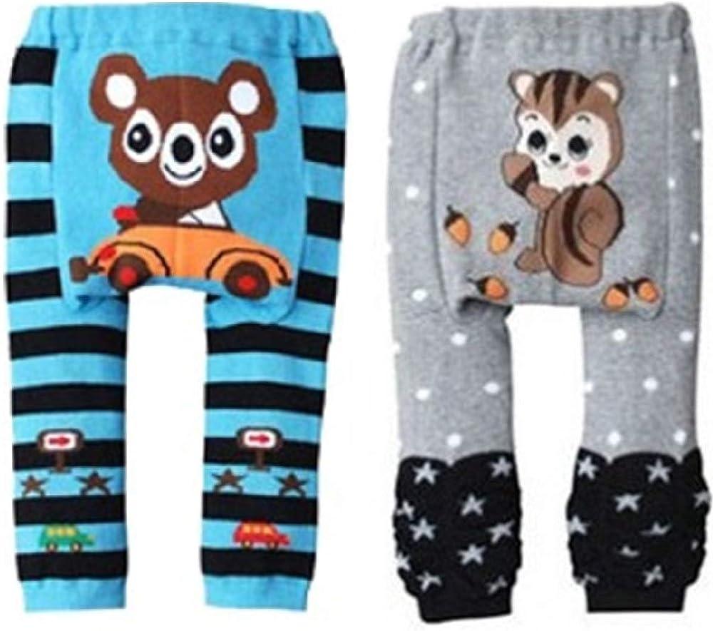 SZCQ 2-Pack Baby Girl Pants Set Little Boys Underpants Cotton Stretch Tights Legging
