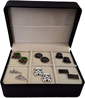 Star Wars Cufflink Set with Box   18 Styles to Choose from   Darth Vader, Millennium Falcon, Boba Fett, The Last Jedi Gifts, A New Hope, Gifts for Men