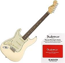 Fender American Original '60s Stratocaster Left-Handed Electric Guitar Olympic White Bundle