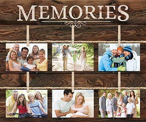 SIGNS houten bord 45x53cm herinneringen 6 foto rustiek 18 x 21 muur fotolijst Collage met wasknijpers bh 664828