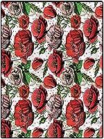 カーペット サラリとした肌触り サラリとした肌触り ベニワレン風 ゴブラン織り 约 120*160cm 花ポリエステルラグコージーソフト&ぬいぐるみラグカラフルな花びら水玉 ホット対応 厚い 心地良い 高級感 厚い