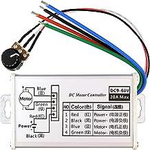 PWM DC Motor Speed Controller, Brush Motor Driver Controls Module DC 9V-60V 12V 24V 36V 48V 60V Motor Pulse Width Modulator Regulator 20A 1200W PWM Monitor Dimmer Governor