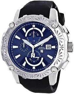 El Russo Nicky Jam Chrono Blue Dial Diamond Men's Watch #NJ103