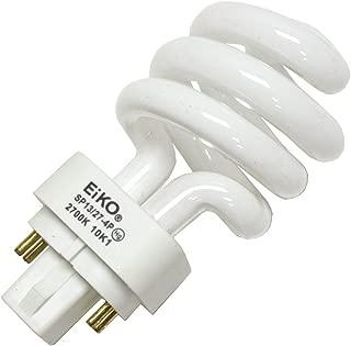 EiKO SP13/27-4P Model Compact Fluorescent Light Bulb (2-Pack), 13 Watts, G24q-1 Base, T-4 Bulb, 3.74