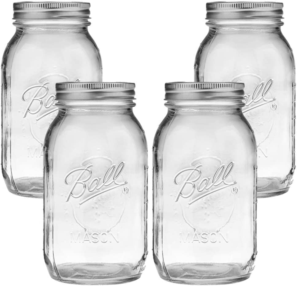 Ball Dealing full price reduction Mason Max 86% OFF Jar Clear Glass Heritage Collection Series Re