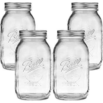Ball Mason Jar, Clear Glass Ball Collection, Heritage Series, Regular Mouth