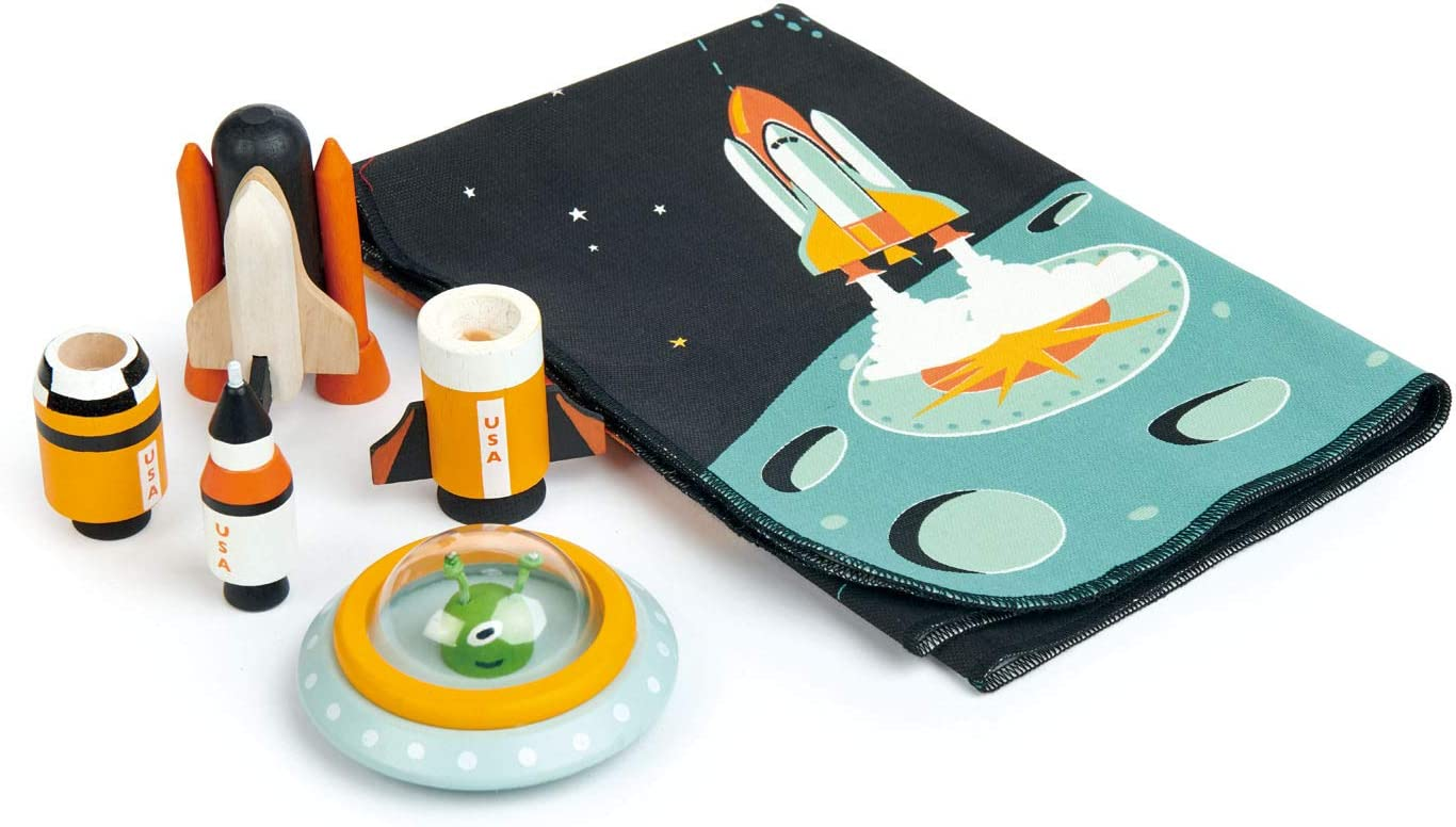 Tender San Diego Max 60% OFF Mall Leaf Toys - Space Adventure Wooden and Pieces Rocket 7