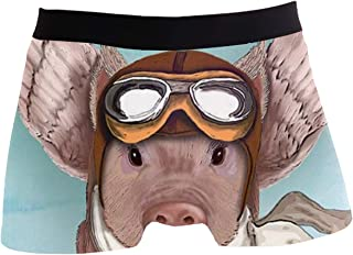 NDFELL Space Cat Boxer Briefs Underwear Polyester Spandex Breathable Stretch Hipster