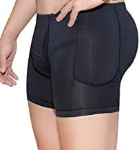 Gaisinyiya Mens Padded Boxer Underwear Shapewear Butt Lifter Hip Enhancer Body Shaper Panty