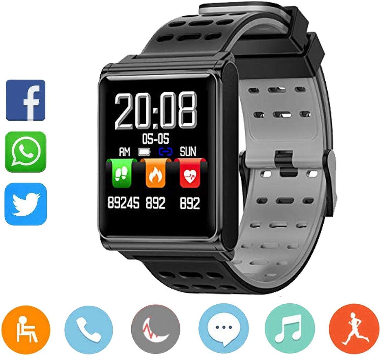 MUXAN Smart Watch, Sportuhr mit GPS-Laufuhr, Kamera Schrittzhler Schlaftracker, Herzfrequenzmessung, IP 67 Waterproof Pulsmesser für Mnner, Frauen und Abenteurer
