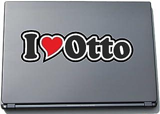 INDIGOS UG - 'I Love Serce' Naklejka Skóra laptopa 210 mm - I Love - I Love Otto - Laptop netbook komputer - Naklejka z im...