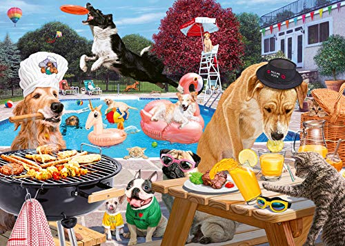 Ravensburger Dog Days of Summer 1000 Piece Jigsaw Puzzle for Adults - Every Piece is Unique, Softclick Technology Means Pieces Fit Together Perfectly