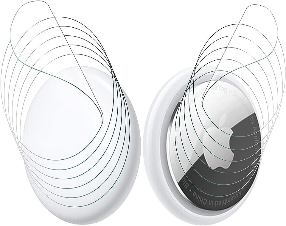 NEWZEROL 6 Sets Schutzfolie kompatibel für AirTag, Kratzfest [Blasenfrei] [Beide Seiten Abdecken] Maximaler Schutz TPU Kristallklare Flexible Folie für AirTag