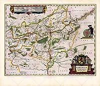 世界の名古屋の古地図劇場地図ポスター印刷PAM0669