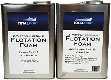 TotalBoat Liquid Urethane Foam Kit 2 Lb Density, Closed Cell for Flotation & Insulation