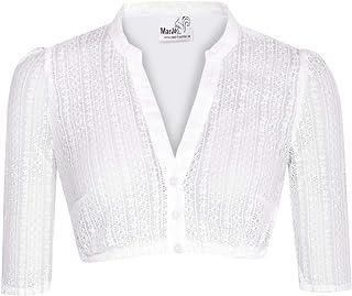 MarJo Trachten Damen Trachten-Mode Dirndlbluse Emma in Weiß traditionell