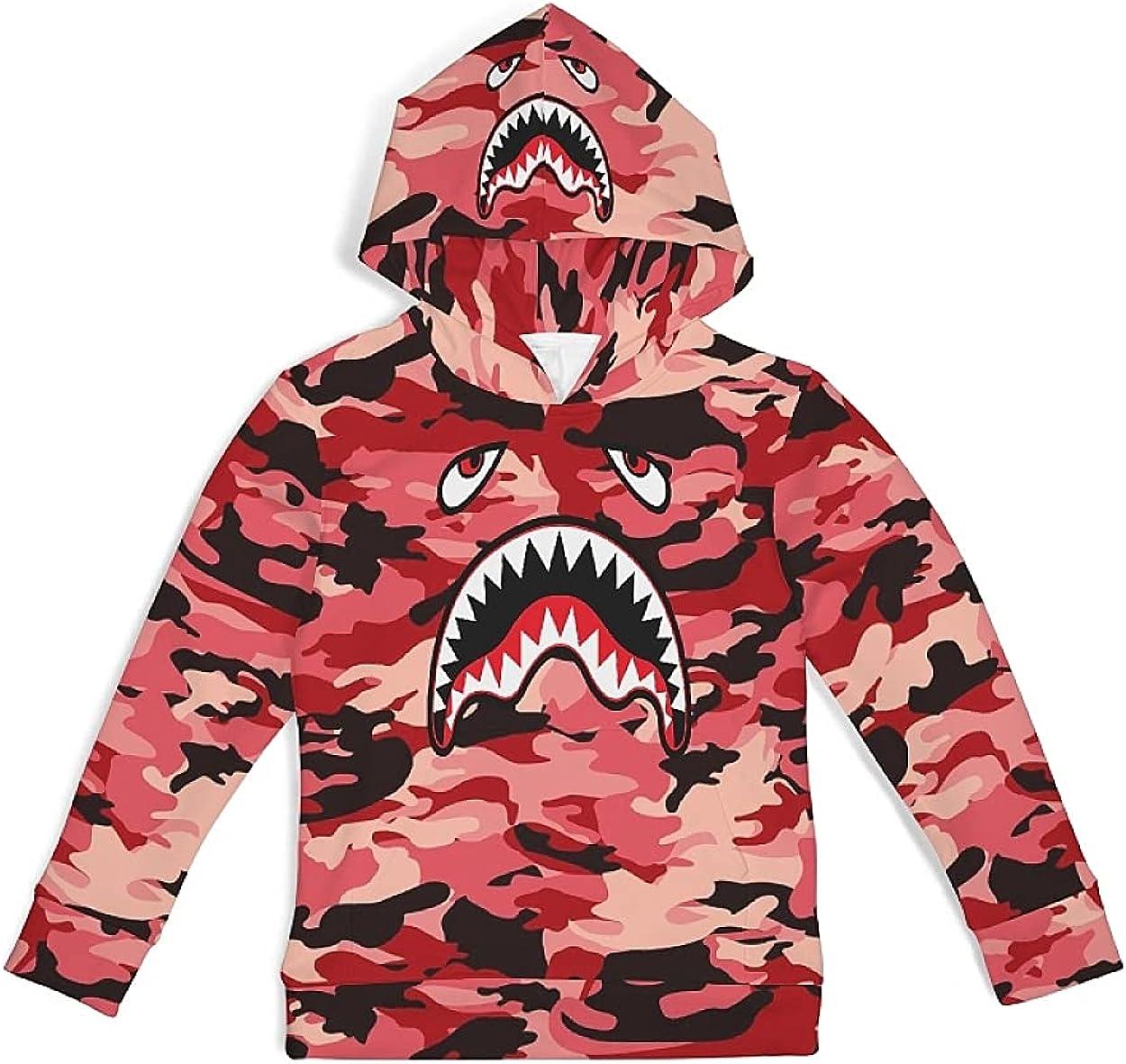 Kids Hoodie Short Long Sleeve Sweatshirt Camouflage Spring Autumn Casual Top